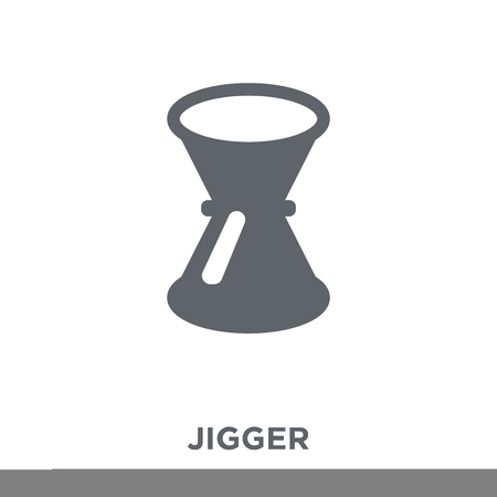 Jigger icon. Jigger design concept from Drinks collection. Simple element vector illustration on white background.  イラスト・ベクター素材