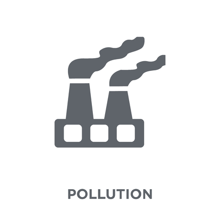 Pollution icon. Pollution design concept from Ecology collection. Simple element vector illustration on white background. Banco de Imagens - 111955509