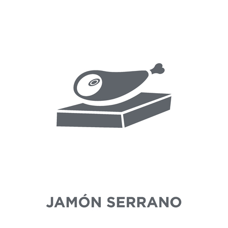 Jamón Serrano icon. Jamón Serrano design concept from Spanish Food collection. Simple element vector illustration on white background.