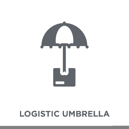 Logistic Umbrella icon. Logistic Umbrella design concept from Delivery and logistic collection. Simple element vector illustration on white background.