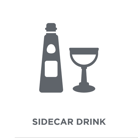 sidecar drink icon. sidecar drink design concept from Drinks collection. Simple element vector illustration on white background.