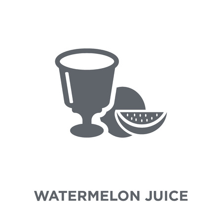 Watermelon juice icon. Watermelon juice design concept from Drinks collection. Simple element vector illustration on white background. Illustration