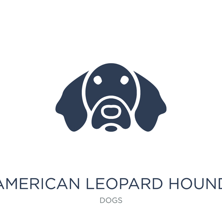 American Leopard Hound dog icon. Trendy flat vector American Leopard Hound dog icon on white background from dogs collection, vector illustration can be use for web and mobile, eps10