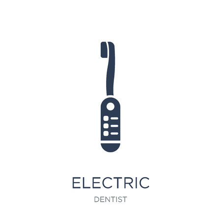 Electric toothbrush icon. Trendy flat vector Electric toothbrush icon on white background from Dentist collection, vector illustration can be use for web and mobile, eps10