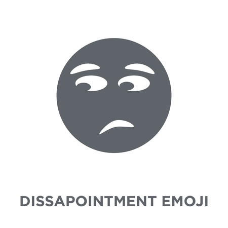 Dissapointment emoji icon. Dissapointment emoji design concept from Emoji collection. Simple element vector illustration on white background.