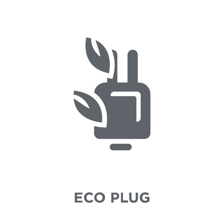 eco Plug icon. eco Plug design concept from Ecology collection. Simple element vector illustration on white background. Standard-Bild - 111297514