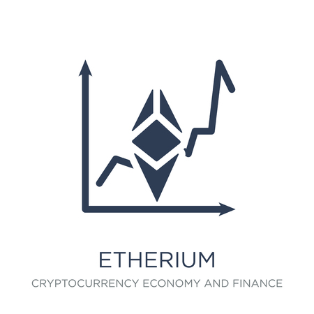 etherium icon. Trendy flat vector etherium icon on white background from Cryptocurrency economy and finance collection, vector illustration can be use for web and mobile, eps10