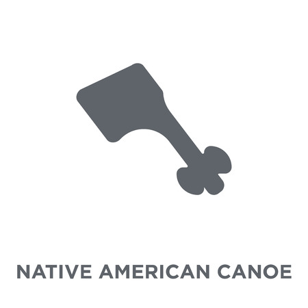 Native American Canoe icon. Native American Canoe design concept from American Indigenous Signals collection. Simple element vector illustration on white background.