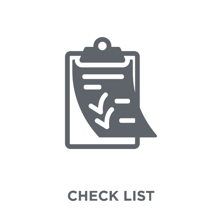 Check List icon. Check List design concept from Delivery and logistic collection. Simple element vector illustration on white background. Stock Vector - 112096153