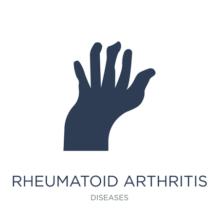 Rheumatoid arthritis icon. Trendy flat vector Rheumatoid arthritis icon on white background from Diseases collection, vector illustration can be use for web and mobile, eps10