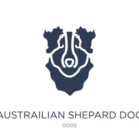 Austrailian Shepard dog icon. Trendy flat vector Austrailian Shepard dog icon on white background from dogs collection, vector illustration can be use for web and mobile, eps10