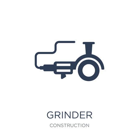 Grinder icon. Trendy flat vector Grinder icon on white background from Construction collection, vector illustration can be use for web and mobile, eps10 Иллюстрация
