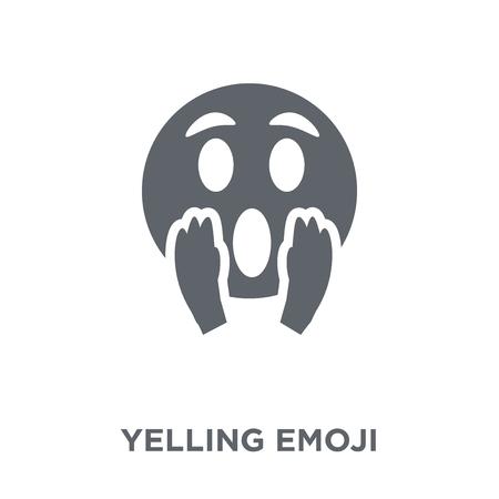 Yelling emoji icon. Yelling emoji design concept from Emoji collection. Simple element vector illustration on white background. Illustration