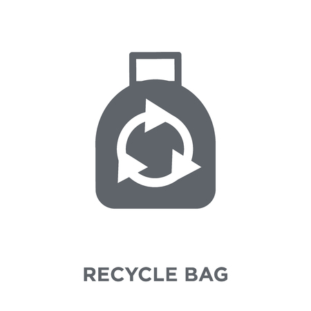 Recycle bag icon. Recycle bag design concept from Ecology collection. Simple element vector illustration on white background.