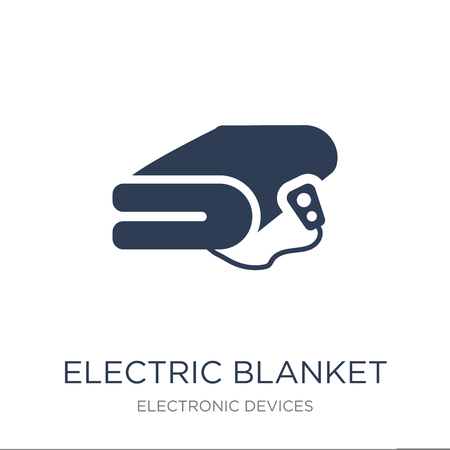 electric blanket icon. Trendy flat vector electric blanket icon on white background from Electronic devices collection, vector illustration can be use for web and mobile, eps10  イラスト・ベクター素材