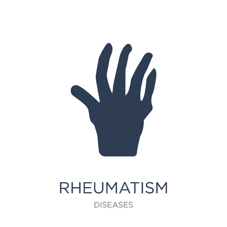 Rheumatism icon. Trendy flat vector Rheumatism icon on white background from Diseases collection, vector illustration can be use for web and mobile, eps10 Ilustração