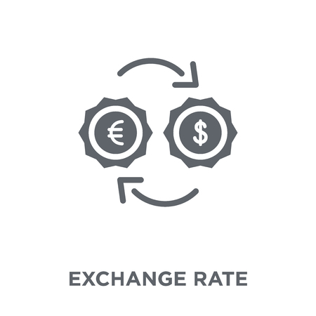 Exchange rate icon. Exchange rate design concept from Ecommerce collection. Simple element vector illustration on white background.