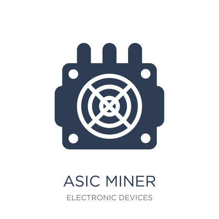 asic miner icon. Trendy flat vector asic miner icon on white background from Electronic devices collection, vector illustration can be use for web and mobile, eps10