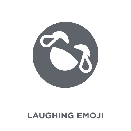 Laughing emoji icon. Laughing emoji design concept from Emoji collection. Simple element vector illustration on white background.