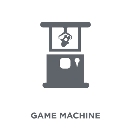 Game machine icon. Game machine design concept from Arcade collection. Simple element vector illustration on white background. Reklamní fotografie - 112096255