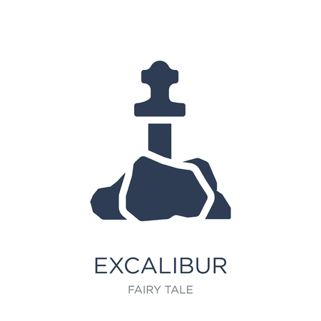 Excalibur icon. Trendy flat vector Excalibur icon on white background from Fairy Tale collection, vector illustration can be use for web and mobile, eps10