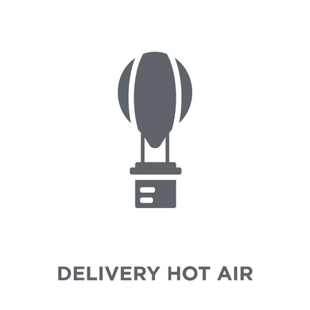 Delivery Hot air balloon icon. Delivery Hot air balloon design concept from Delivery and logistic collection. Simple element vector illustration on white background.