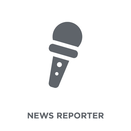 News reporter icon. News reporter design concept from Communication collection. Simple element vector illustration on white background. 向量圖像