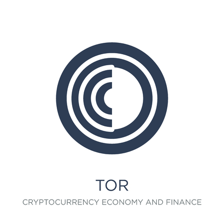 Tor icon. Trendy flat vector Tor icon on white background from Cryptocurrency economy and finance collection, vector illustration can be use for web and mobile, eps10