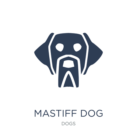Mastiff dog icon. Trendy flat vector Mastiff dog icon on white background from dogs collection, vector illustration can be use for web and mobile, eps10