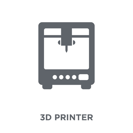 3d printer icon. 3d printer design concept from Electronic devices collection. Simple element vector illustration on white background.