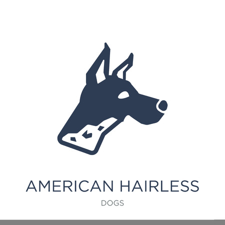 American Hairless Terrier dog icon. Trendy flat vector American Hairless Terrier dog icon on white background from dogs collection, vector illustration can be use for web and mobile, eps10