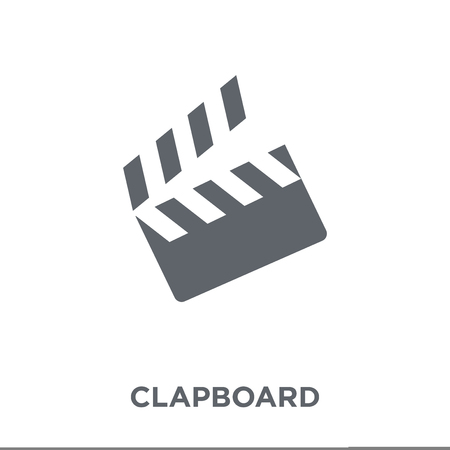 Clapboard icon. Clapboard design concept from Entertainment collection. Simple element vector illustration on white background.