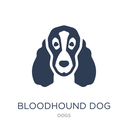 Bloodhound dog icon. Trendy flat vector Bloodhound dog icon on white background from dogs collection, vector illustration can be use for web and mobile, eps10 Ilustração