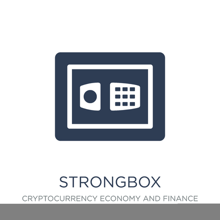 Strongbox icon. Trendy flat vector Strongbox icon on white background from Cryptocurrency economy and finance collection, vector illustration can be use for web and mobile, eps10 Illustration