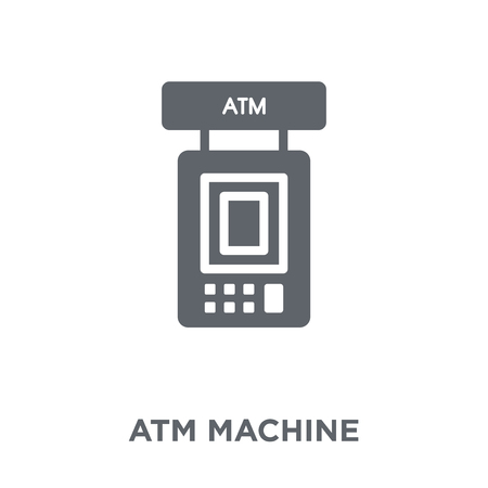 Atm machine icon. Atm machine design concept from  collection. Simple element vector illustration on white background. Illustration