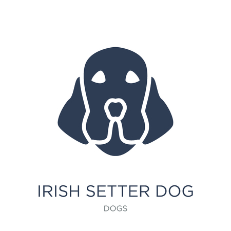 Irish Setter dog icon. Trendy flat vector Irish Setter dog icon on white background from dogs collection, vector illustration can be use for web and mobile, eps10
