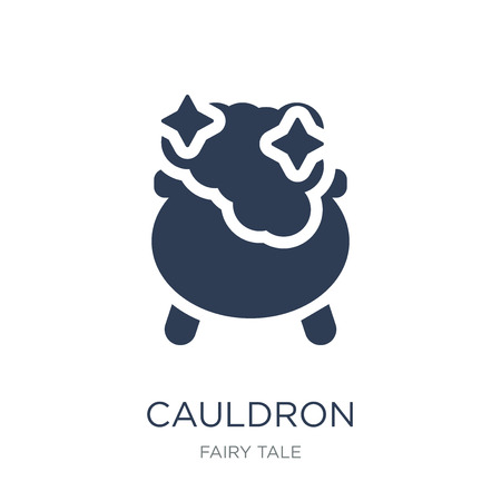 Cauldron icon. Trendy flat vector Cauldron icon on white background from Fairy Tale collection, vector illustration can be use for web and mobile, eps10