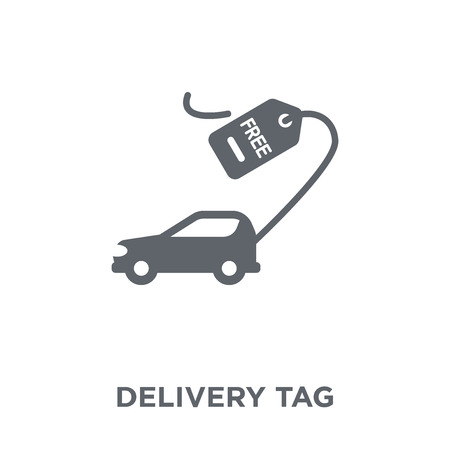 Delivery Tag icon. Delivery Tag design concept from Delivery and logistic collection. Simple element vector illustration on white background.