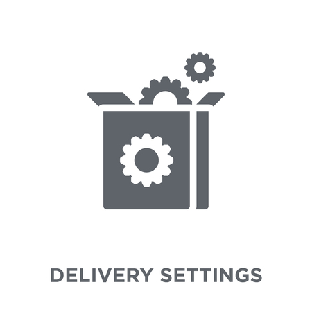 delivery Settings icon. delivery Settings design concept from Delivery and logistic collection. Simple element vector illustration on white background. Archivio Fotografico - 112098751