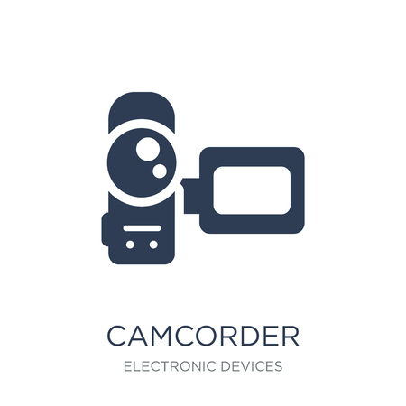 Camcorder icon. Trendy flat vector Camcorder icon on white background from Electronic devices collection, vector illustration can be use for web and mobile, eps10 Ilustracja