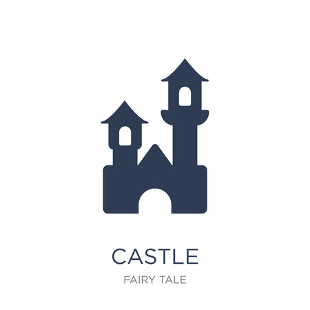 Castle icon. Trendy flat vector Castle icon on white background from Fairy Tale collection, vector illustration can be use for web and mobile, eps10 Foto de archivo - 112098755