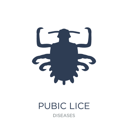 Pubic lice icon. Trendy flat vector Pubic lice icon on white background from Diseases collection, vector illustration can be use for web and mobile, eps10