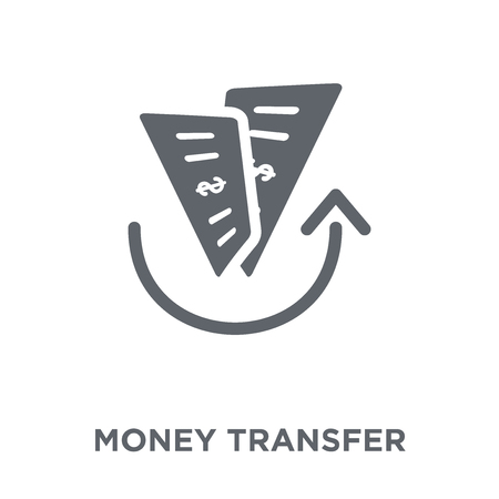 Money transfer icon. Money transfer design concept from  collection. Simple element vector illustration on white background. Foto de archivo - 112098975