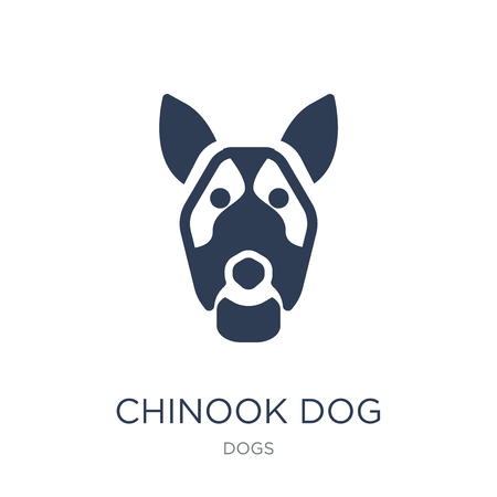 Chinook dog icon. Trendy flat vector Chinook dog icon on white background from dogs collection, vector illustration can be use for web and mobile, eps10 向量圖像