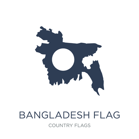 Bangladesh flag icon. Trendy flat vector Bangladesh flag icon on white background from Country Flags collection, vector illustration can be use for web and mobile, eps10
