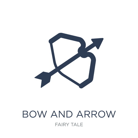 Bow and arrow icon. Trendy flat vector Bow and arrow icon on white background from Fairy Tale collection, vector illustration can be use for web and mobile, eps10 向量圖像