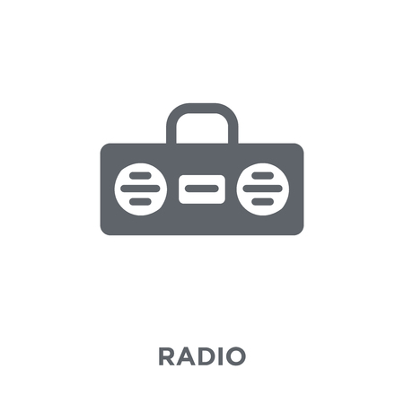 Radio icon. Radio design concept from Electronic devices collection. Simple element vector illustration on white background.