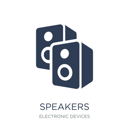 Speakers icon. Trendy flat vector Speakers icon on white background from Electronic devices collection, vector illustration can be use for web and mobile, eps10
