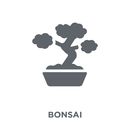 Bonsai icon. Bonsai design concept from Ecology collection. Simple element vector illustration on white background. 일러스트