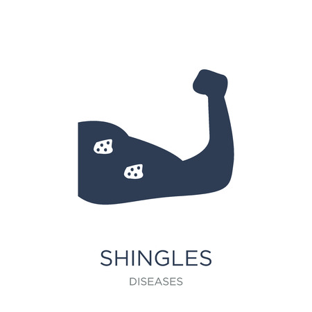 Shingles icon. Trendy flat vector Shingles icon on white background from Diseases collection, vector illustration can be use for web and mobile, eps10